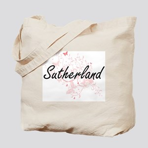Sutherland surname artistic design with B Tote Bag
