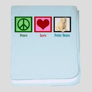 Peace Love Polar Bears baby blanket