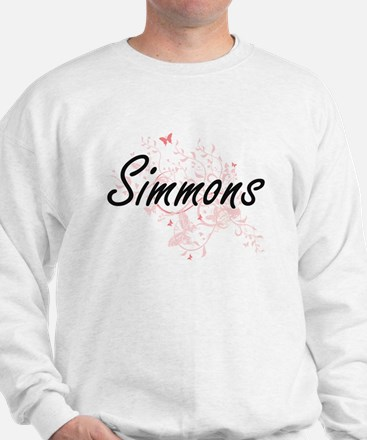 Simmons surname artistic design with Bu Sweatshirt