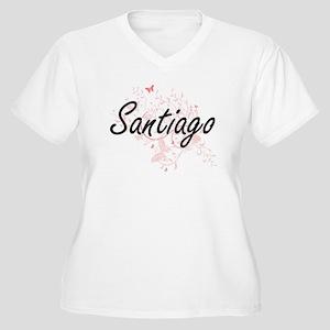 Santiago surname artistic design Plus Size T-Shirt