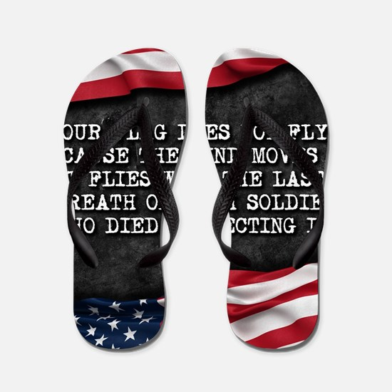 Unique American flag Flip Flops