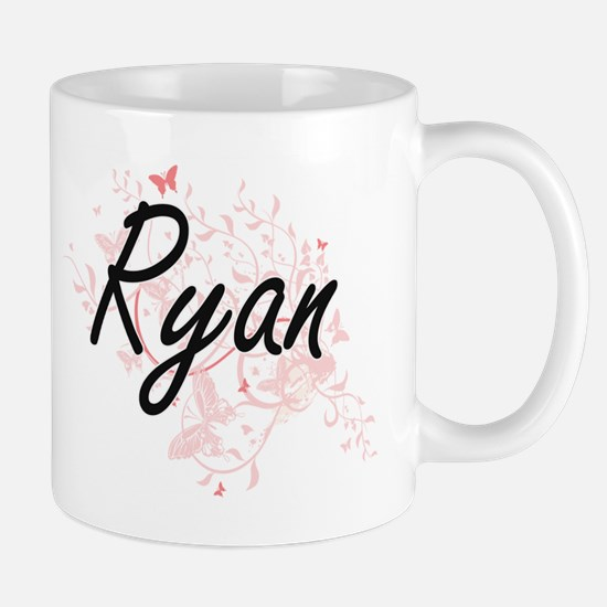 Ryan surname artistic design with Butterflies Mugs