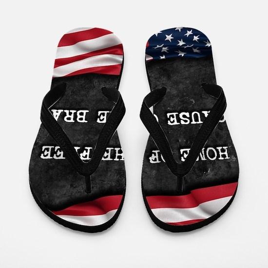 Unique Proud american Flip Flops