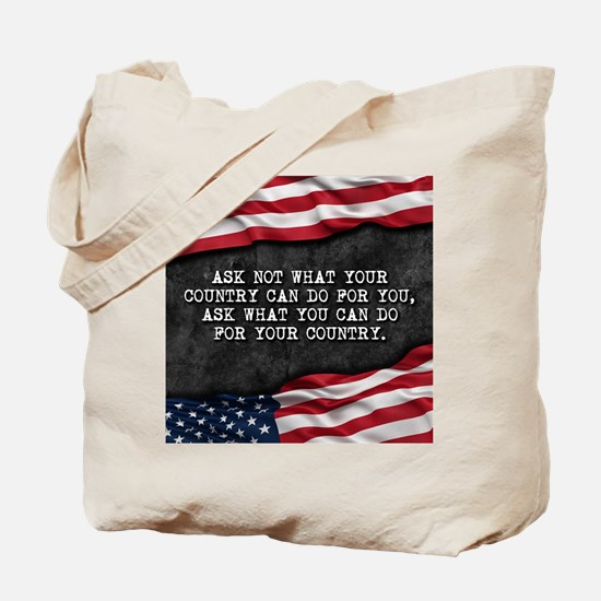 Cute Ask not what your country can do for you Tote Bag
