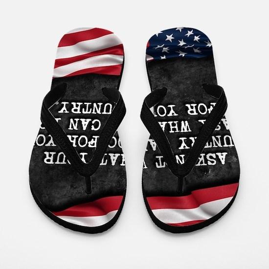 Cool Proud american Flip Flops