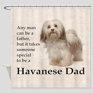 Havanese Dad Shower Curtain