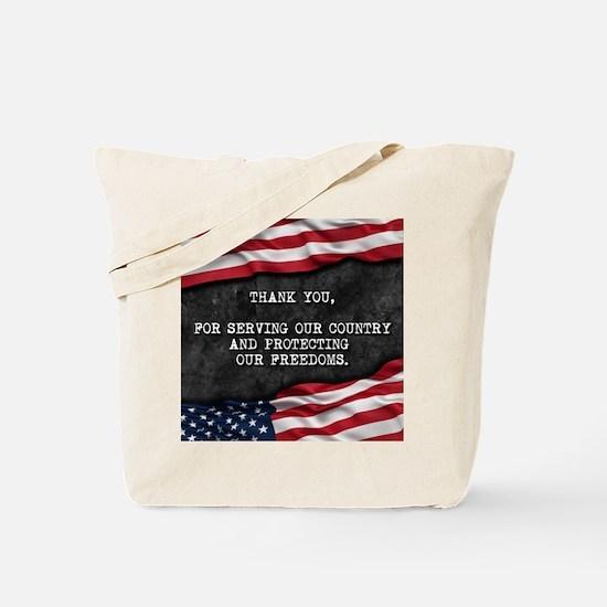 Thank you veterans Tote Bag