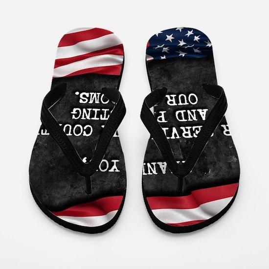 Funny Proud american Flip Flops