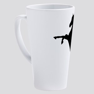Arabian Horse Silhouette 17 oz Latte Mug