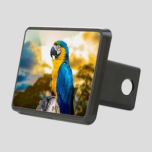 Beautiful Blue And Yellow Parrot Rectangular Hitch