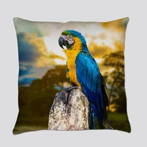 Beautiful Blue And Yellow Parrot Everyday Pillow
