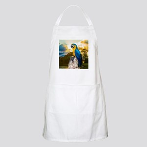 Beautiful Blue And Yellow Parrot Apron