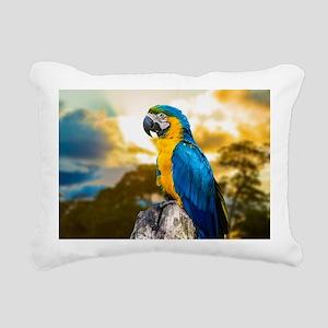 Beautiful Blue And Yellow Parrot Rectangular Canva