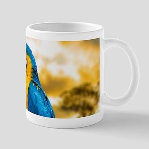 Beautiful Blue And Yellow Parrot Mugs