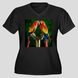 Beautiful Parrots Plus Size T-Shirt