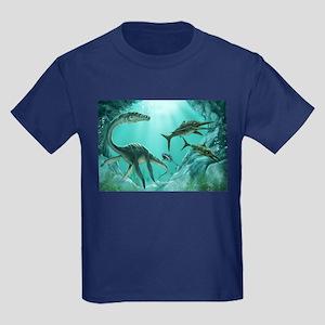 Underwater Dinosaur Kids Dark T-Shirt