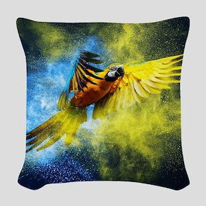 Beautiful Parrot Woven Throw Pillow