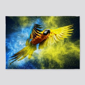 Beautiful Parrot 5'x7'Area Rug