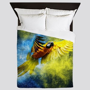Beautiful Parrot Queen Duvet