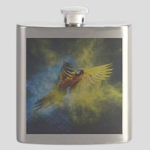 Beautiful Parrot Flask