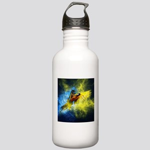 Beautiful Parrot Sports Water Bottle
