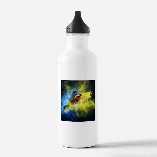 Beautiful Parrot Sports Water Bottle