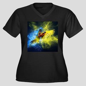 Beautiful Parrot Plus Size T-Shirt