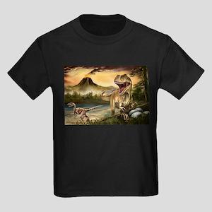 Predator Dinosaurs Kids Dark T-Shirt