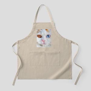 Odd-Eyed White Cat Apron