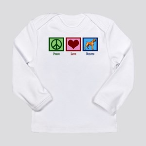 Peace Love Boxers Long Sleeve Infant T-Shirt