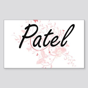 Patel surname artistic design with Butterf Sticker