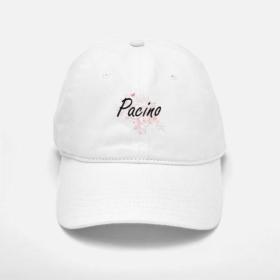 Pacino surname artistic design with Butterflie Baseball Baseball Cap