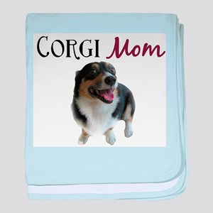 Corgi Mom baby blanket