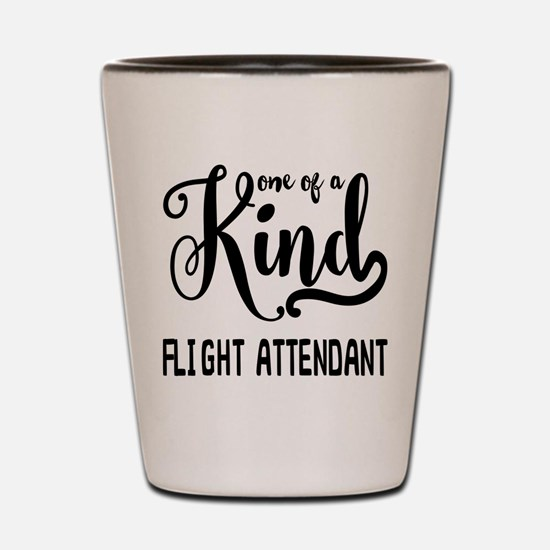 One of a Kind Flight Attendant Shot Glass