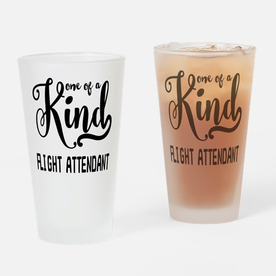 One of a Kind Flight Attendant Drinking Glass