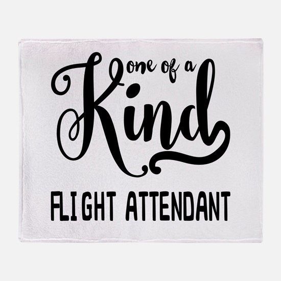 One of a Kind Flight Attendant Throw Blanket