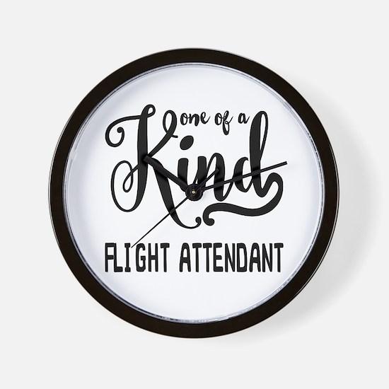 One of a Kind Flight Attendant Wall Clock