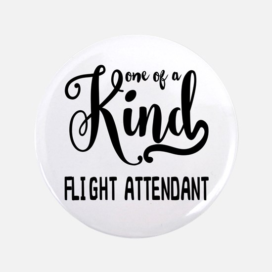 One of a Kind Flight Attendant Button