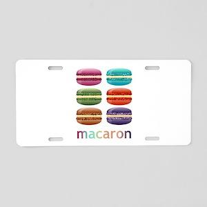 Colorful Macarons Aluminum License Plate