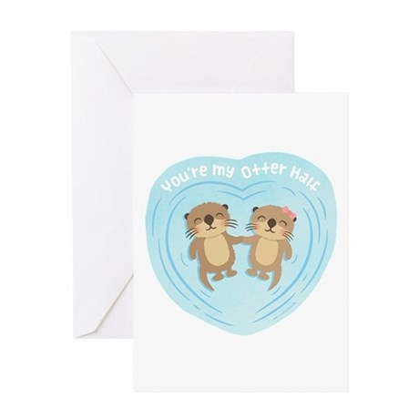 You are my otter half love pun humor Greeting Card