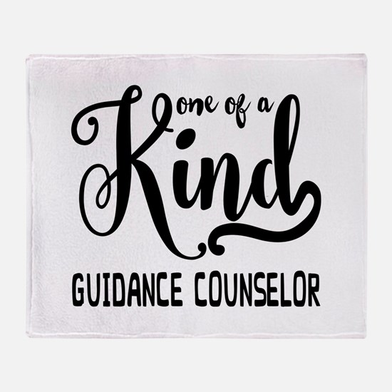 One of a Kind Guidance Counselor Throw Blanket