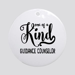 One of a Kind Guidance Counselor Round Ornament
