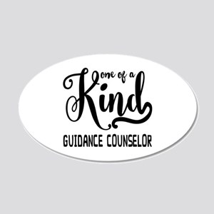 One of a Kind Guidance Couns 20x12 Oval Wall Decal