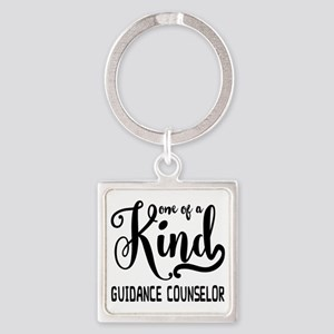 One of a Kind Guidance Counselor Square Keychain