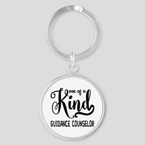 One of a Kind Guidance Counselor Round Keychain