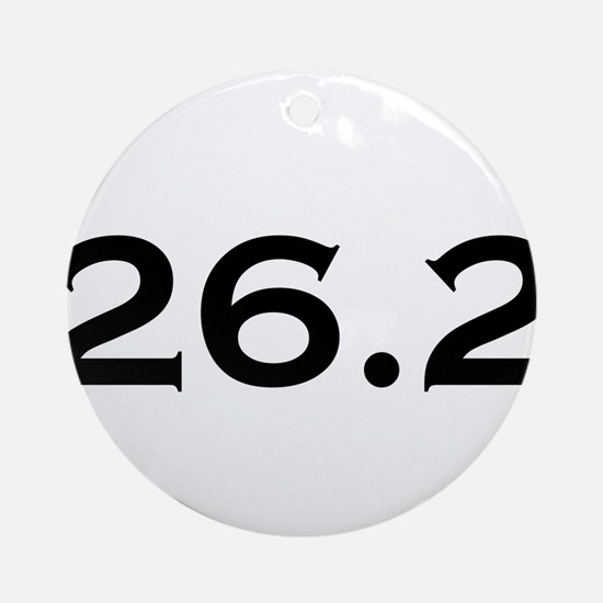 26.2 Marathon Round Ornament