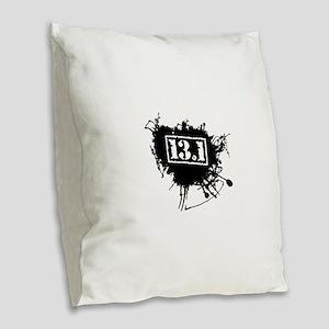 Half Marathon Burlap Throw Pillow