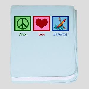 Peace Love Kayaking baby blanket