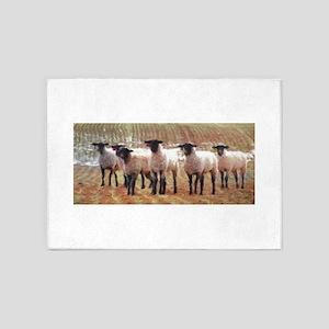 Sheep Painting 5'x7'Area Rug