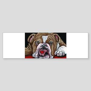 English Bulldog Valentine Bumper Sticker
